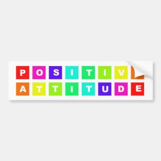 positive attitude car bumper sticker