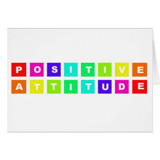 positive attitude stationery note card