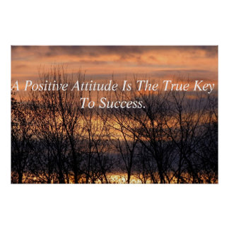 Positive Attitude Inspirational Poster