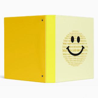 Positive Attitude Mind Over Matter Smiley Binder