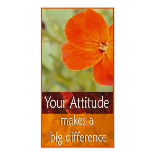 Positive Attitude Motivational Poster