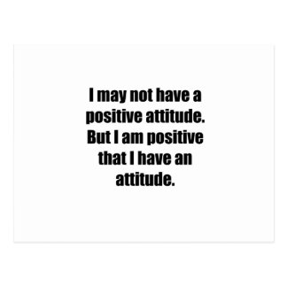 Positive Attitude Postcard