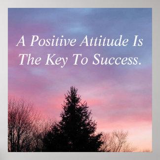 Positive Attitude Poster Inspirational Poster