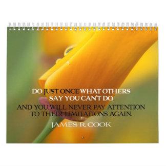 Positive Attitude Quotes Calendar