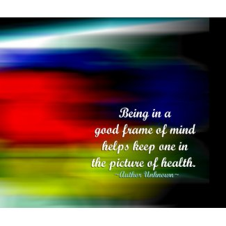 Positive attitude words - Picture of health print