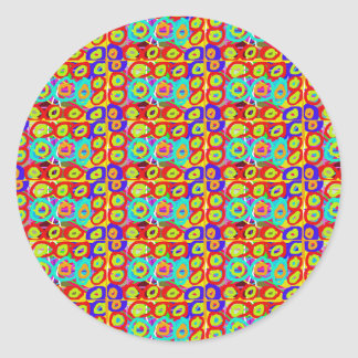 Positive balanced ENERGY DOTS CIRCLES pattern gift Sticker