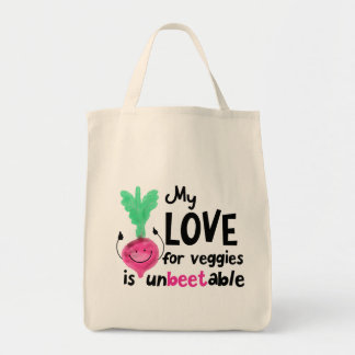 Positive Beet Pun - My Love for Veggies Tote Bag