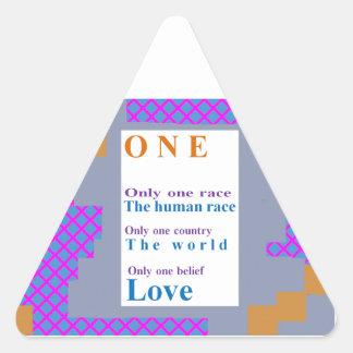 Positive BELIEFs:  One People, One Race, LOVE Triangle Sticker