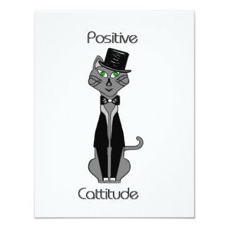 Positive Cattitude 4.25x5.5 Paper Invitation Card