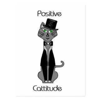 Positive Cattitude Postcard