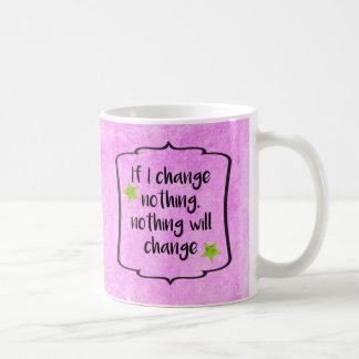 Positive Change Diet Health Motivation Quote Coffee Mug