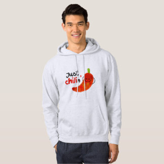 Positive Chili Pepper Pun - Just Chilin Hoodie