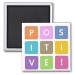 Positive Cubes Collection 2 Inch Square Magnet