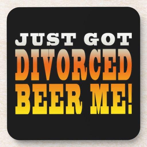 Positive Divorce Gift Ideas : Divorced Beer Me Drink Coasters
