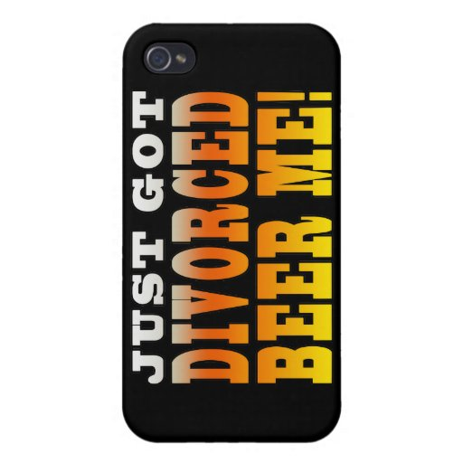 Positive Divorce Gift Ideas : Divorced Beer Me iPhone 4 Cover