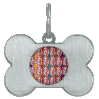 Positive Energy - CHAKRA Red Circles Tie Fashion Pet ID Tag