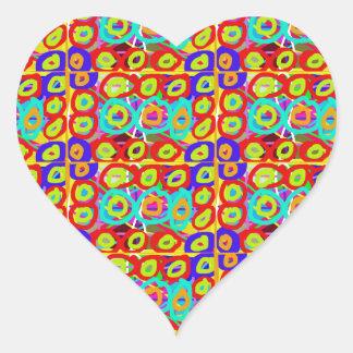 Positive ENERGY Dots n Circles Pattern by NavinJOS Heart Sticker