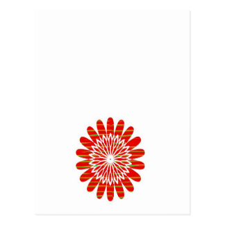 Positive Energy Flower Circles Fire Flare LOWPRICE Postcard