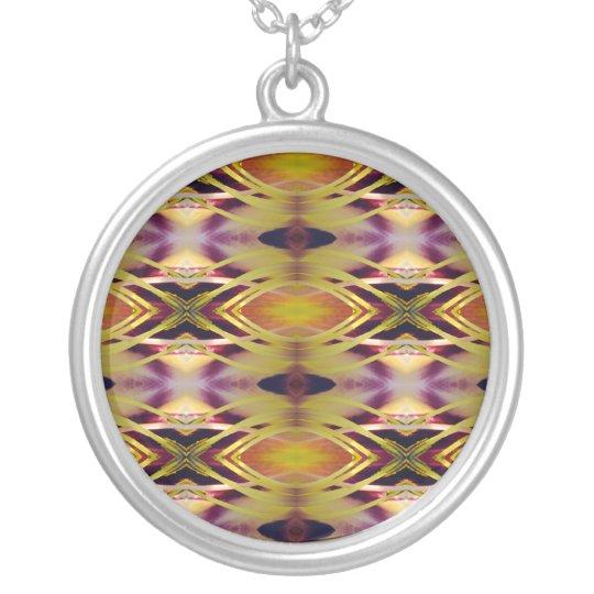 Positive Energy Fractal Art Necklace