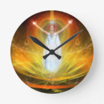 Positive Energy Goddess Round Wall Clock