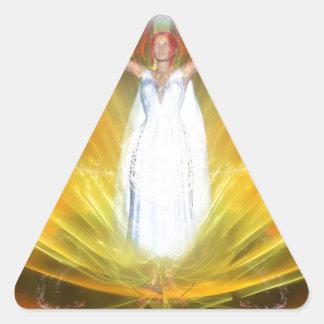 Positive Energy Goddess Triangle Sticker