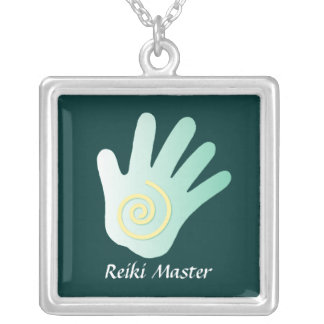 Positive Energy Hand Silver Plated Necklace