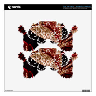 Positive Energy - Sparkle Gold Leaf Decorations PS3 Controller Decal