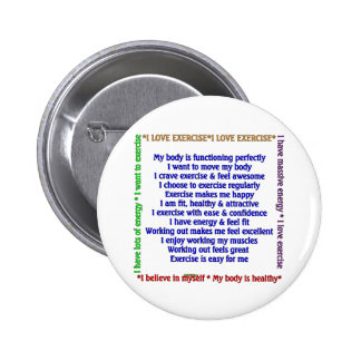 Positive Exercise Affirmations Button