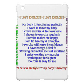 Positive Exercise Affirmations iPad Mini Covers