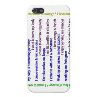 Positive Exercise Affirmations iPhone SE/5/5s Cover