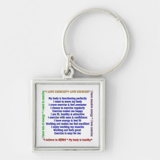 Positive Exercise Affirmations Keychain