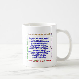 Positive Exercise Affirmations Coffee Mugs
