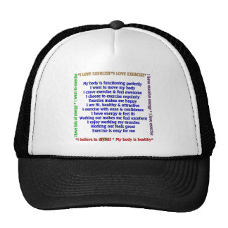 Positive Exercise Affirmations Trucker Hat
