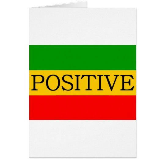 Positive Flag Card