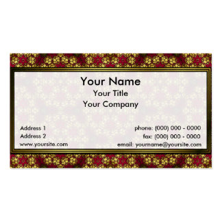 Positive Golden Lattice Sm Any Color Business Card
