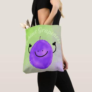 Positive Grape Pun - Achieve Grapeness Tote Bag