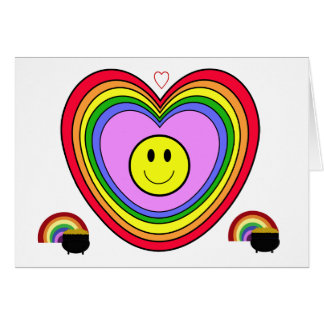 Positive Heart  greeting card