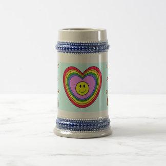Positive Heart stein 18 Oz Beer Stein