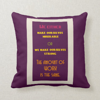 Positive Inspirational Quote about Life Throw Pillow