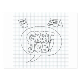 Positive Job Reinforcement Messages Postcard