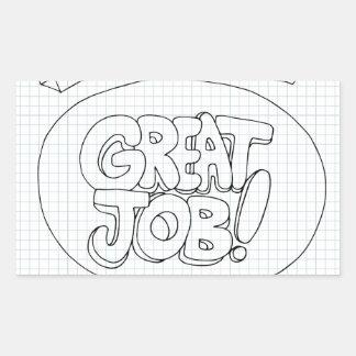 Positive Job Reinforcement Messages Rectangular Sticker