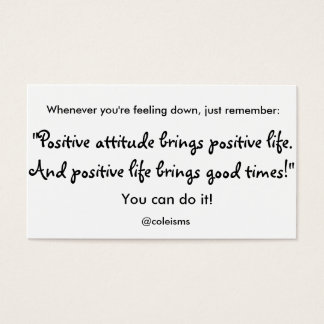 """""""Positive Life"""" Cards"""