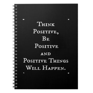 POSITIVE LIFE MOTIVATIONAL QUOTES THINK ACT MOTTO SPIRAL NOTE BOOK