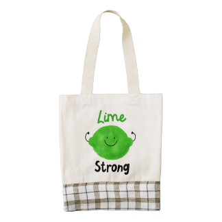 Positive Lime Pun - Lime Strong Zazzle HEART Tote Bag