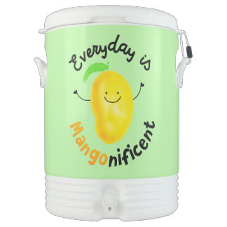 Positive Mango Pun - Everyday is Mangonificent Beverage Cooler