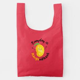Positive Mango Pun - Everyday is Mangonificent Reusable Bag