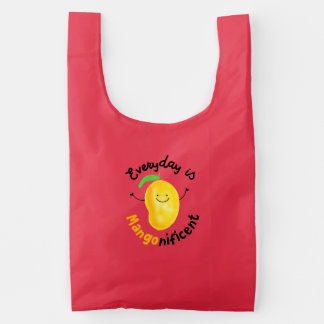 Positive Mango Pun - Everyday is Mangonificent Reusable Bag