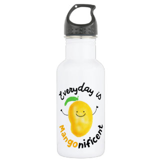 Positive Mango Pun - Everyday is Mangonificent Water Bottle