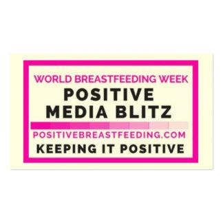 Positive Media Blitz Business Card