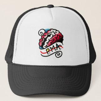Positive Mental Attitude PMA on the Brain Trucker Hat